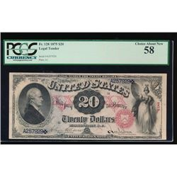 1875 $20 Legal Tender Note PCGS 58