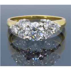 18KT Yellow Gold 0.53ct GIA Cert Diamond Ring