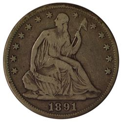 1891 Seated Liberty Half Dollar Coin