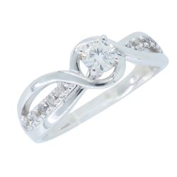 10KT White Gold 0.32ctw Diamond Ring