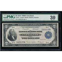 1918 $2 Cleveland Federal Reserve Note PMG 30