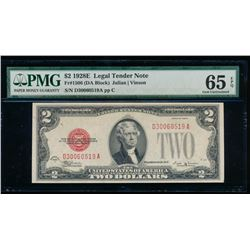 1928E $2 Legal Tender Note PMG 65EPQ