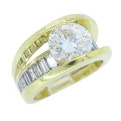 18KT Yellow Gold 2.02ct GIA Cert Diamond Ring