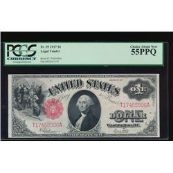 1917 $1 Legal Tender Note PCGS 55PPQ