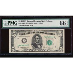 1950C $5 Atlanta Federal Reserve Note PMG 66EPQ