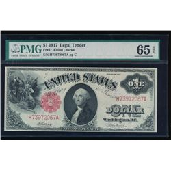 1917 $1 Large Legal Tender Note PMG 65EPQ