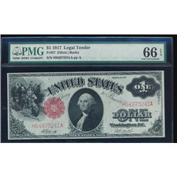 1917 $1 Legal Tender Note PMG 66EPQ