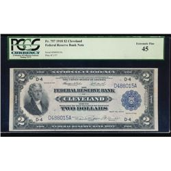 1918 $2 Cleveland Federal Reserve Bank Note PCGS 45