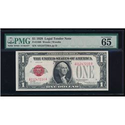 1928 $1 Legal Tender Note PMG 65