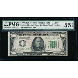 1928 $500 St Louis Federal Reserve Note PMG 55NET