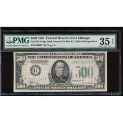 1934 $500 Chicago Federal Reserve Note PMG 35EPQ