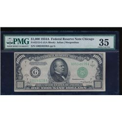 1934A $1000 Chicago Federal Reserve Note PMG 35