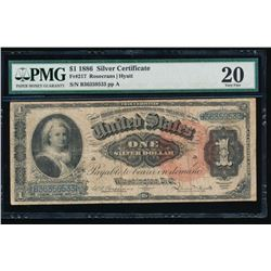 1866 $1 Martha Washington Silver Certificate PMG 20