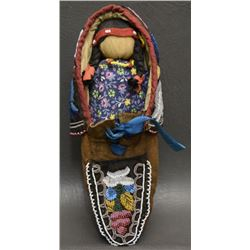 IROQUOIS SINGLE MOCCASIN AND DOLL