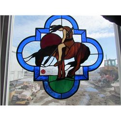 Stained glass Horseback Rider
