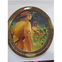 Large Coca Cola Girl Tray- 16.5x14