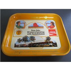 60 yrs With Saskatchewan Regina Plant Opening Coca Cola Tray 16x12.5
