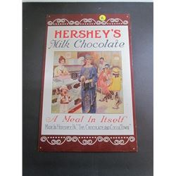 Hershey's Milk Chocolate Repro Ad Sign 15.5x10