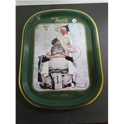 "Norman Rockwell ""The Tatto Artist"" The Romance Series Coca Cola Tray"