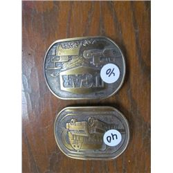 2 Belt Buckles - UCAR and Gulf Truck