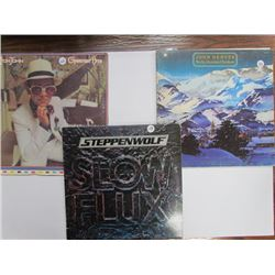 3 Records Lot-John Denver,Elton John,Steppenwolf