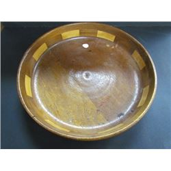 "12.5"" Laminated Wood Turned Bowl"