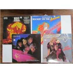 4 Records Lot-Darling,Twisted Sister,Limited Edition Kiss(3 Records),Rockin On the Airwaves