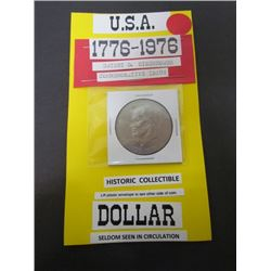 USA Dwight D Eisenhower 1 Dollar Coin Comm. Issue dated 1776to 1976