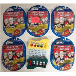 34 assorted 2003/2004 mooses NHL beans - 5 new sealed sets