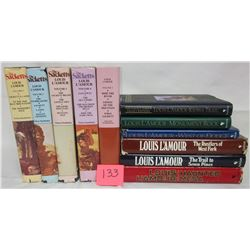 11 H/C Louis L'Amour western books/dust jackets - sacketts
