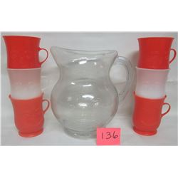 Vintage Kool-Aid smiling face pitcher/jug - 6 cups