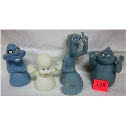 Set all 4 1995 Pizza Hut glow in the dark ghosts Casper Stinkie Stretch Fatso