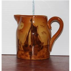 Medalta Sailboat Pitcher, 1 Pint, Repaired on spout