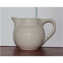 Medicine Hat Potteries Pitcher, Small Blue Medalta Vitrified Ware Bowl