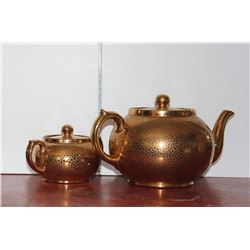 Tea Pot and Sugar Bowl, Made in England