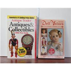 Antique Trader and Doll Values Colelctors Books