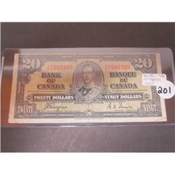 Bank of Canada $20 Banknote-VG