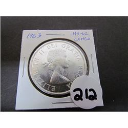 1963 Canadian Dollar MS-62 Cameo