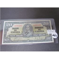 $20 Bank of Canada Bank Note F