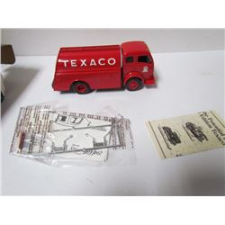1949 White Tilt Cab Tank Truck Texaco Locking Bank with key Die Cast Series # 13 in original box