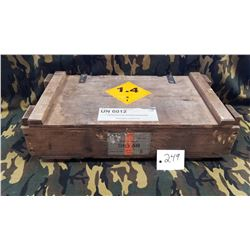 Hirtenberger 7.62x51FMJ surplus Ammo Crate. Austrian Military.