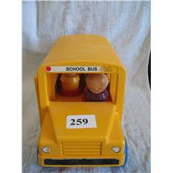 Tupperware Toy School Bus with People  (12 in. X 5 1/8 in. X 6 1/4 in.)