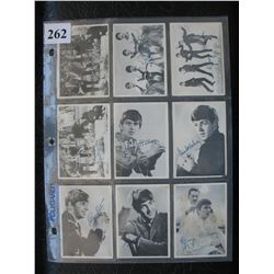 Lot of 9 The Beatles Cards