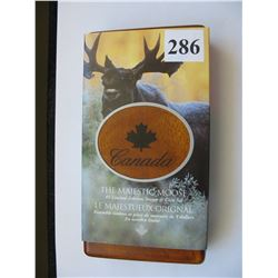 2004 Canada Mint/Canada Post Coin & Stamp Set  - $5.00 Silver Moose