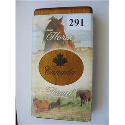 2006 Canada Mint./Canada Post Coin & Stamp Set - $5.00 Silver Horse & Foal