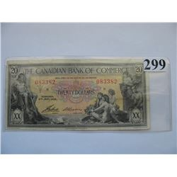 1935 Canadian Bank of Commerce - $20 Banknote - Ser. # 083382