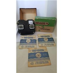 Vintage Stereoscope View Master , 7 reels and original box