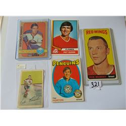 Vintage Hockey Cards- Tim Horton, Paul Conacher,Ron Murphy, Pat Quinn