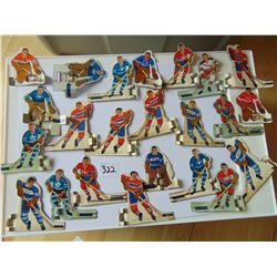 23 Vintage Table top Hockey Players