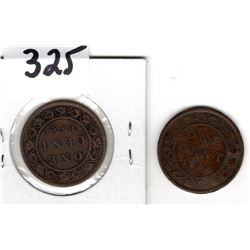 Canadas First Two One Cents-1858 + 1859